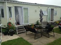 Static Caravan, Sited on a Saught after Pitch,Sea and landscape veiw,Rockley Park Poole,
