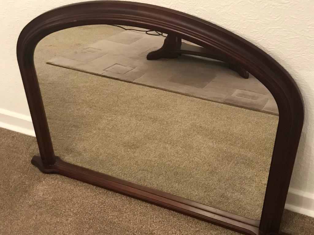 Mahogany mantle mirror