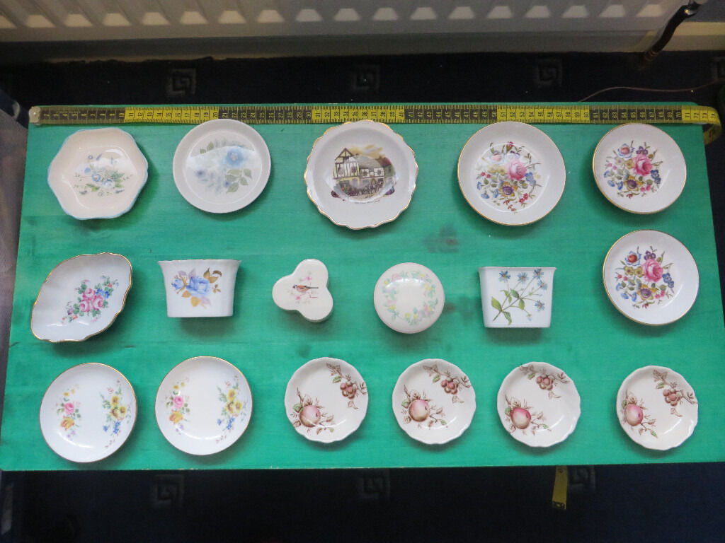 Small Decorative Plates Collection Of 17 Fine Bone China Small Decorative Plates And