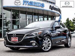 2014 Mazda Mazda3 Sport GT-White Leather, Power Seat, BOSE, Navi