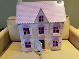 ELC Rosebud Dolls house with rooms, family and pets