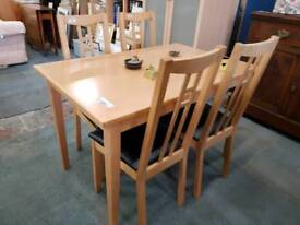 Modern table and four chairs