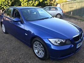 BMW 320D 1995cc Turbo Diesel 6 speed manual 4 door saloon 07 Plate 31/07/2007 Blue