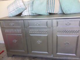Silver wooden side board