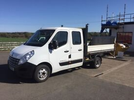12 Renualt Master 3500 Double Cab Alloy Dropside Pick Up