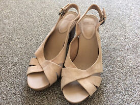 Cream clark shoes, size 5 1/2, worn once