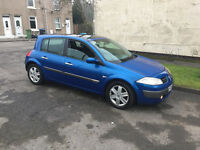 05 plate renault megane 1.5 dci 12 months m-o-t,Panoramic Roof,£30 year t-a-x top spec £695ovno