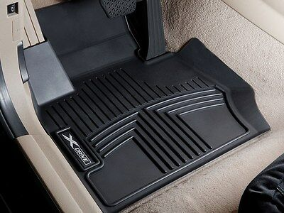 BMW OEM Black All Weather Floor Liners 2016 2019 X1 28i 28iX FRONT 82112414875
