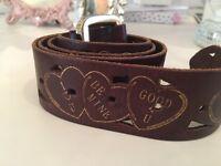 Designer Betsey Johnson Leather Belt & PU Wallet