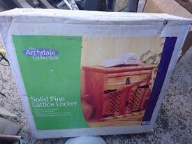Brand NEW Solid Pine Lattice Locker Storage Cupboard Furniture