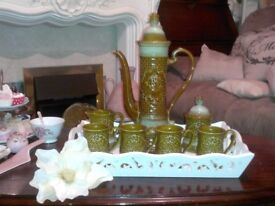 RARE ANTIQUE, JAPANESE MADE, COLLECTABLE MOROCCAN/TURKISH STYLE COFFEE SET