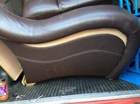 designer type sofa only £69 will deliver free can drop off free of charge if far away fuel money Bob