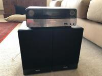 Philips sound system 2 speaker DAB MP3 CD
