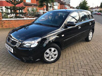 2010 (10) KIA RIO 2 1.4 PETROL AUTOMATIC BLACK LOW MILEAGE EXCELLENT CONDITION 6 MONTHS WARRANTY