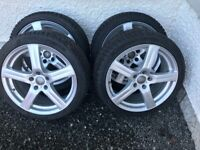 """18"""" Alloy Wheels with Winter Tyres (4 off)"""
