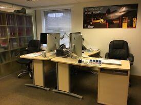 Desk space in beautiful office!