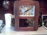 LARGE WALL CLOCK, ART DECO STYLE, (PLEASE READ).