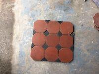 Tiles - reclaimed victorian octagonal floor tiles