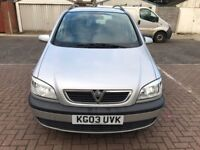 2003 Vauxhall Zafira 2.0 DTi 16v Design 5dr Manual @07445775115