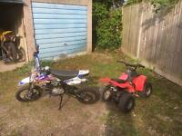 Pitbike and quad