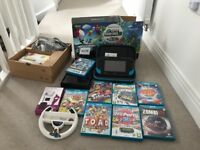 Wii U with box, 8 games and accessories