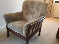 3 Seat Sofa & Two Armchairs