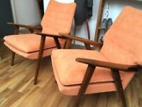 Extremely comfortable pair of stylish lounge chairs