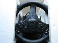 NINTENDO 64 N64 - v3 RACING STEERING WHEEL TRUE ANALOG & PEDALS USED TESTED