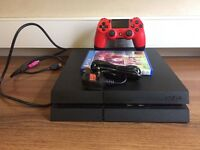 PS4 500GB RED DUALSHOCK WORTH £50 FIFA 16 + HDMI AND mesh office chair red