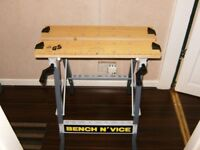 WORK BENCH AND VICE, LIGHTWEIGHT AND PORTABLE