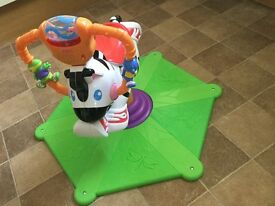 Fisher price bounce and play zebra