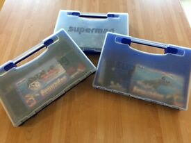 Three sets of supermag in carry boxes