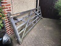 Wooden gate 365cm X 122cm