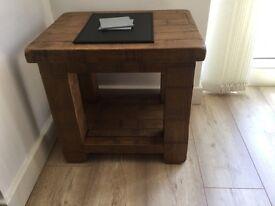 Ripley solid oak lamp table
