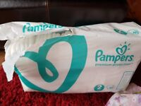 Pampers nappies size 2