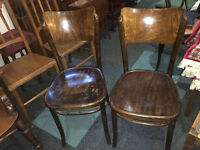 Fine Set of 2 Bentwood Cafe Chairs Made In Poland