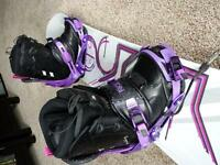 Brand new snowboard, boots and bindings