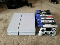 Ps4 with all cables and games and pad
