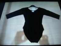 Adult Velvet Black Leotard - Size 4