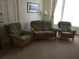 Cintique three piece suite (two-seater settee)