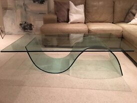 'Mood' designer glass coffee table from Barker & Stonehouse