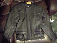 Rayven leather motorcycle jacket