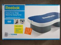 New - REEBOK EASY TONE STEP – with RESISTENCE BANDS + WORKOUT DVD - AEROBIC STEP