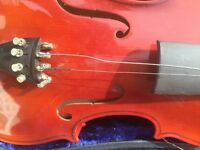 Classic Violin with Case. Bow needs strings and so does Violin. Perfect condition body work