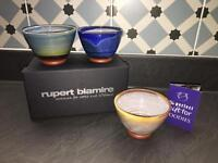 Rupert Blamire set of 3 nibbles bowls brand new in box