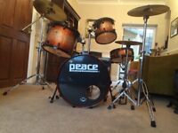 Peace DNA Limited Edition Sunburst 5 Piece Drum Kit