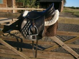 Harry Dabbs Future Mono-flap Pony Jumping Saddle 16.5 Brown