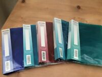 5 New Snopake A5 ring binders in blue, turquoise and green.