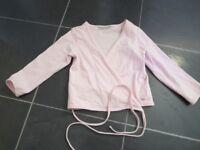 Girls pink ballet cardigan