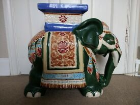 Royal Barum Ware Large Elephant Plant Stand. VGC